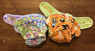 Goodmama Cloth Diaper Fitted WAHM Lot Of 2 Excellent Condition