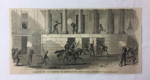 1864 magazine engraving ~ NATHAN BEDFORD FORREST