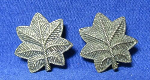 WWI & WWII Sterling Army Lieutenant Colonel Insignia Lot Of 2 by W.C. Link RARE