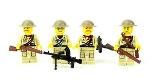 custom US WW2 British Africa Campaign soldiers made with real LEGO(R) UK Squad 4
