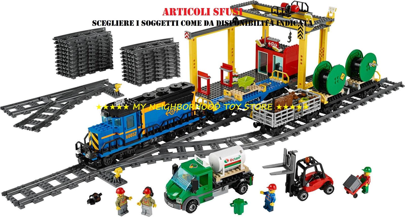 LEGO 60052 TRENO MERCI CARGO TRAIN (sacchetti nuovi, istruzioni, sticker)