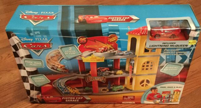 Disney Cars Piston Cup Garage 3 Leavels Mcqueen Ebay