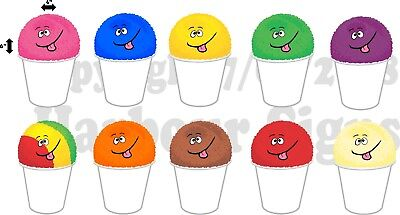 10 4x 6 Each Shave Shaved Ice Snow Cone Decal Concession Food Truck