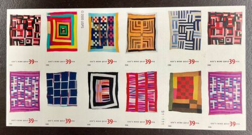 4089-4098b Gee's Bend Quilts  NH 39 D/S Pane of 20  FV $7.80  2006