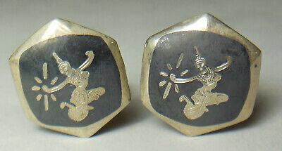Old Vtg. sterling silver (Siam) Thailand cufflinks