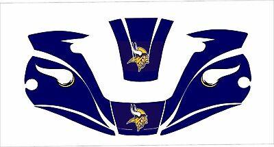 Miller Digital Elite 257213 Welding Helmet Decal Titanium 9400 Vikings Purple