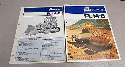 Fiat Allis Fl14-b Crawler Loader Color Brochure Manual Set