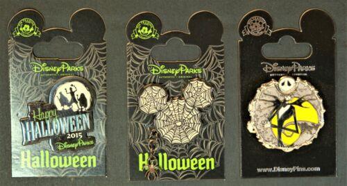 Disneyland Halloween special 3 pin set Mickey Ghosts Figaro Jack Skellington