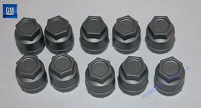 86-99 Corvette Gray Wheel Lug Nut Plastic Covers  LOT OF 10      NEW GM 345