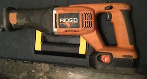 RIDGID reciprocating saw used but in good condition
