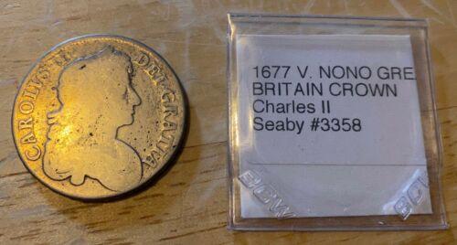 1677 GREAT BRITAIN CROWN Charles II KM#435