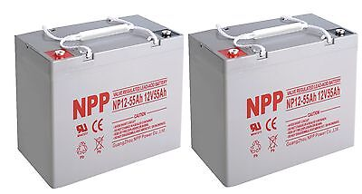 NPP  NP12-55Ah Deep Cycle 12V 55Ah Battery Replace UB12550 Group 22  / (2pcs)
