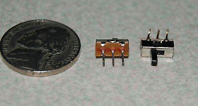 5pcs Ss12d03 2 Position 1p2t 3 Pin Mini Vertical Slide Switch