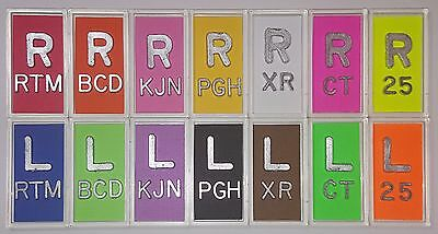 1 Set Of Xray Markers With Lead Initials And Colors Options