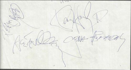 KISS Signed Autograph Vintage Cut Gene Simmons, Frehley, Stanley, Criss JSA LOA