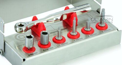Dental Implant Mini Multi Hex Drivers Kit Long Short Ratchet Adapter Extender CE