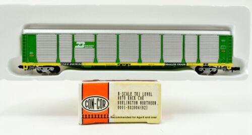 CON COR N SCALE 603004 (02) BURLINGTON NORTHERN TRI-LEVEL AUTO RACK CAR #961532