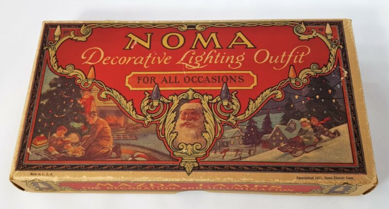 Vintage NOMA Christmas Decorative Lighting Outfit 1927 - All Lights WORK!