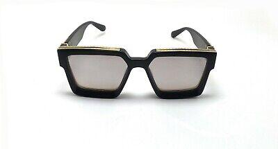Black Best Millionaire Sunglasses Silver Mercury Lens Runway for Man's & (Best Sunglass Lens)