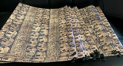 24 Elephant Design Hanging File Folders No Tabs 12 X 9.5 East Asian Motif