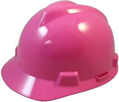 Msa V-gard Cap Style Hard Hat With Fas-trac Suspension - Hot Pink