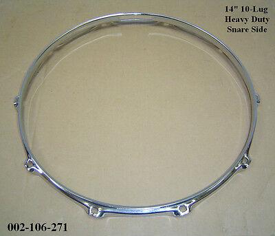 """14"""" 10-Lug Triple Flanged H/Duty BOTTOM Hoop / Ring / Rim Snare Drum 002-106-271"""