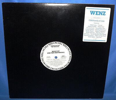 1980 Cbs Family Of Jazz Compilation Wenz Am Radio Promo Vinyl Lp Record Album