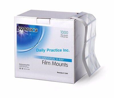 Mark3 Dental X-ray Film Mounts Universal Roll Box1000 Mfg 1249