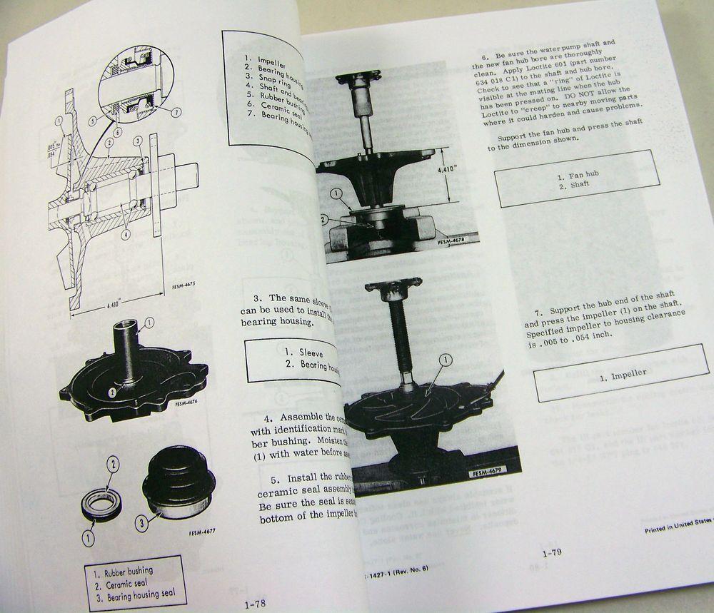 7 of 9 International D Dt-436 Diesel Engine Service Repair Shop Manual  Dt436 D436 8 of 9 International ...