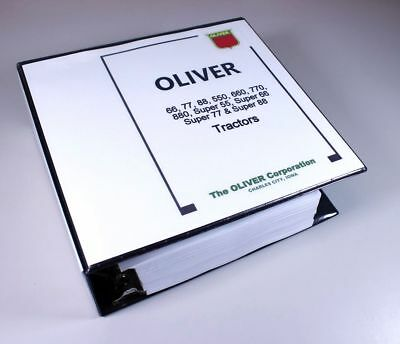 Oliver Super 55 66 77 88 Tractor Service Repair Manual Fleetline Shop Overhaul