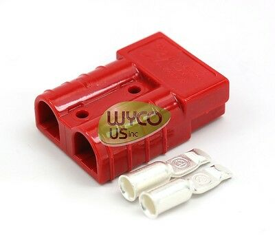 BATTERY CHARGER CONNECTOR, SMALL, SB50, #6AWG, TENNANT 605387, FLOOR SCRUBBERS