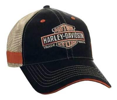 Harley-Davidson Men's Embroidered Long Bar & Shield Mesh Trucker Cap BCC31212