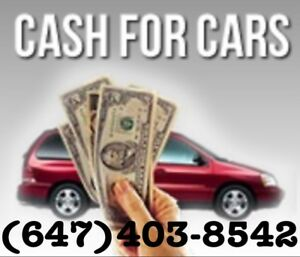 Up to $6000 Cash On The Spot For Unwanted vehicles (647)403-8542