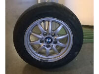 BMW 15 INCH ALLOY WHEEL WITH TYRE 205/60/15