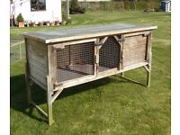 Large Six-Foot Rabbit Hutch vgc (other bunny stuff available)