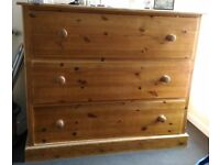 Large Solid Wood Chase of Drawers