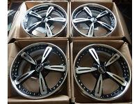 19'' ASA BBS Alloy wheels - 3 piece Splits - Audi * VW * Seat * Mercedes - BRAND NEW! 5x112