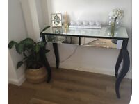 Black/mirrored glass dressing/console or hall table