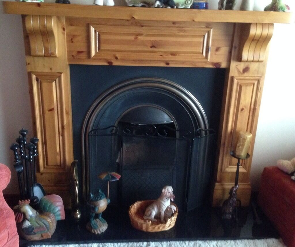 fireplace cast iron insert granite hearth in ballinamallard