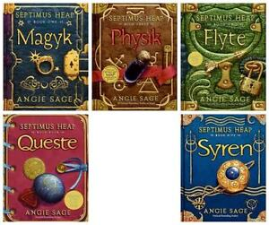 Flyte Septimus Heap 5 book Children Set Angie Sage numbers 1 2 3 4 5 Pack  NEW