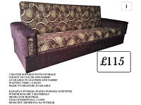 New TURKISH SOFA BED CHOICE OF COLOR, MATERIAL & SIZE LEATHER OR FABRIC (WERSALKA) from £115