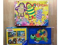 Puzzle Bundle Cbeebies Fimbles, Thomas, Tortoise Alphabet