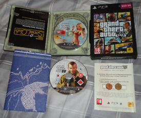 Sony Playstation PS3 Grand Theft Auto V Special Edition Complete + Version IV Disc Game as bonus
