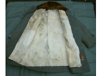 Vintage Military WINTER Sheepskin Canvas Parka in super grade condition