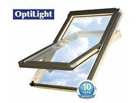 ONE LEFT-Large Optilight Skylight Roof Window Inc.Flashing 55x98cm(New Sealed) £120