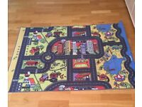 Child's large playmat mat, road and houses town layout, nice item, Ideal for playroom, bedroom etc