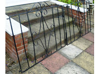 Two wrought iron gates