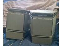 Bamg & Olufsen retro pair speaker amplifiers