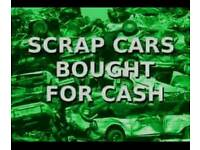 Scrap cars bought for cash£100