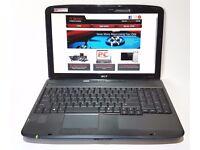 ACER 5735/ INTEL DUAL CORE 2.00 GHz/ 3 GB Ram/ 120 GB HDD/ WIRELESS/ WEBCAM - WIN 7